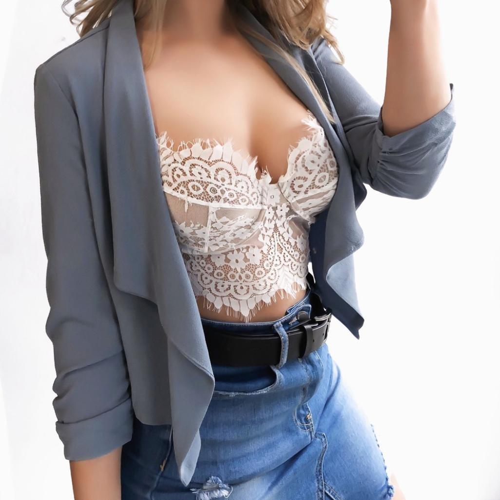 ❤ Bustier de Encaje de Mujer,Sexy Floral Bralette Crop Top Sujetador Chaleco Camisa Absolute: Amazon.es: Ropa y accesorios