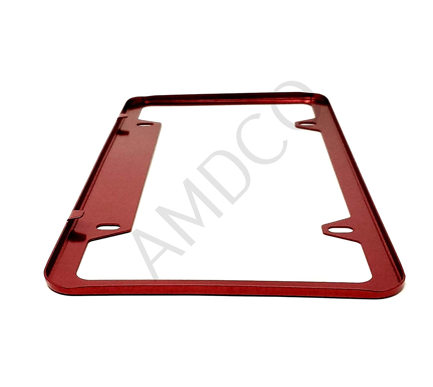 Pack of 1 AMDCO RED for Cummins Magnum V8 V6 5.7 6.4 V10 License Plate Cover Holder Frame Badge Stickers Decals with Strong 3M Includes Instructions Measure Before Purchase Fitment