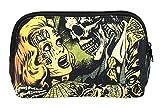 Liquorbrand Horror B Movie Cartoon Art Travel Pouch Cosmetic Bag by Liquorbrand