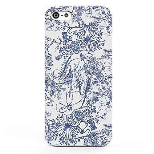 Koveru Back Cover Case for Apple iPhone 5S - Flower Sketch Art