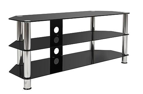 Soporte para televisor Mountright UMS4 de Cristal Negro y 120 cm ...