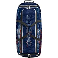 """Boombah Brute Rolling Bat Bag 2.0-35"""" x 15"""" x 12-1/2"""" - USA Patriotech Navy/Red/White - Holds 4 Bats and Room for Gear…"""