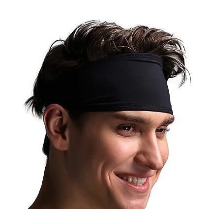 différemment ramassé doux et léger VIMOV Bandeaux Homme - Bande de Sport Sweatband pour Course, vélo, Yoga,  Basket-Ball - élastique humidité Wicking Hairband, 2 Pack