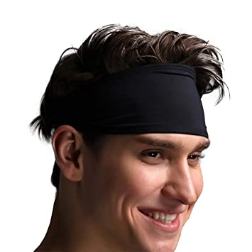 c658ca2cfc7115 VIMOV Herren Stirnband - Sport Schweißband für Laufen, Radfahren, Yoga,  Basketball - Dehnbar