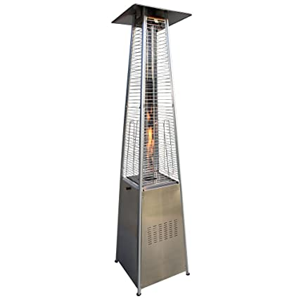 Garden Radiance GRP4000SS Dancing Flames Pyramid Outdoor Patio Heater With  Stainless Steel Base