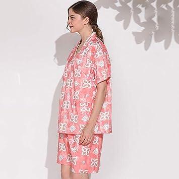 Pajamas Traje de Pijama, algodón con Bolsillos Albornoz, Modelos Masculinos y Femeninos Pijamas de
