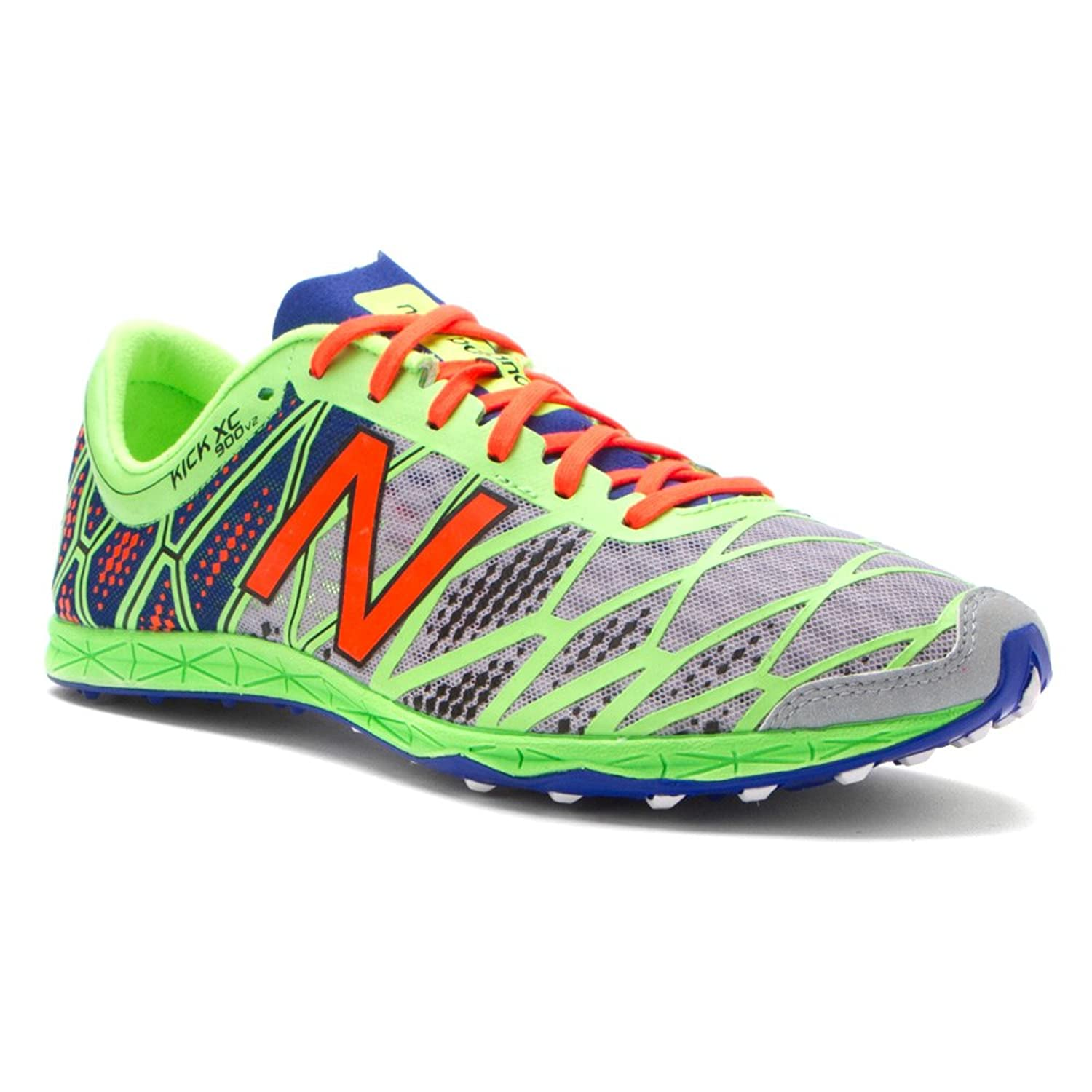 Amazon.com   New Balance Men's MXC900 Cross Country Spikes Shoe, Silver/ Green, 7.5 D US   Track & Field & Cross Country