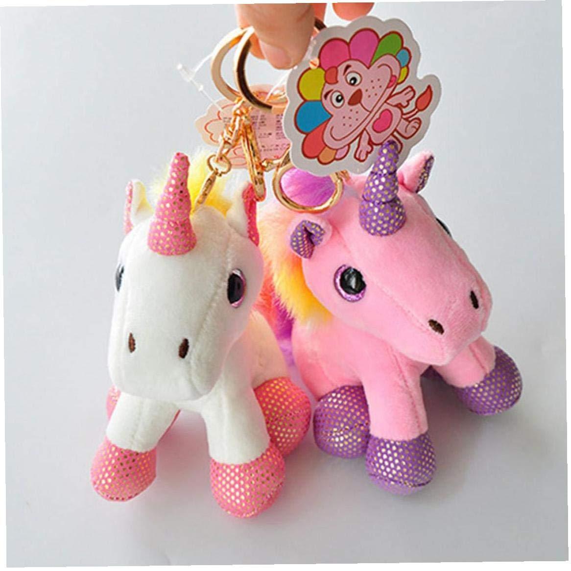 Colorful Unicorno Peluche Zaino Ciondolo Portachiavi Peluche Plush Portachiavi Piccoli Accessori Pendente Del Sacchetto