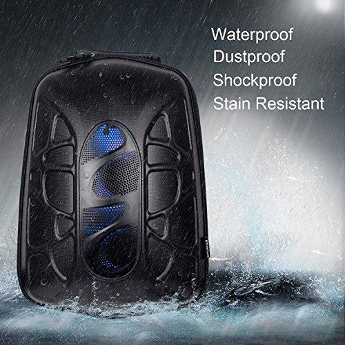 WILDMAN Multi-Functional Waterproof Lightweight Enabled Wireless Bluetooth Speaker LED Light Backpack (Black) by Wildman (Image #6)