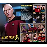 Star Trek 50th Anniversary- Jean-Luc Picard, Collectible Postage Stamps, Nevis