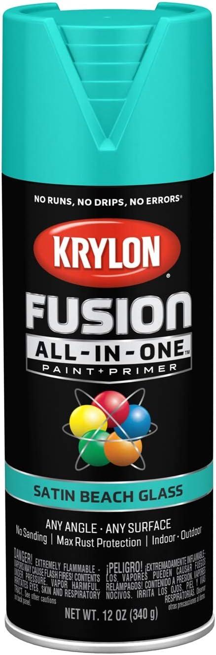Krylon K02731007 Fusion All-in-One Spray Paint, Beach Glass