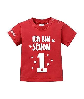 Camiseta de bebé para cumpleaños con texto «Ich bin schon 1 ...