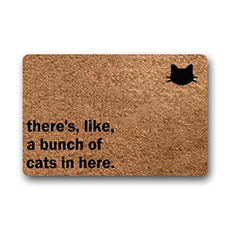 Eureya There de como un montón de Gatos en aquí Felpudo para Puerta Alfombrilla Entrada Felpudo