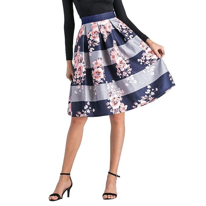 Lenfesh_Vestidos Falda para Mujer, Lenfesh Falda Cuadros Plisada ...