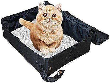 XXDYF Caja de Arena Plegable para Gatos, Plegable y portátil ...