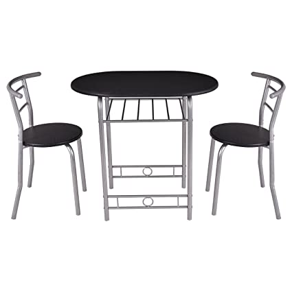 Amazoncom Giantex PCS Bistro Dining Set Table And Chairs - Restaurant bistro table and chairs