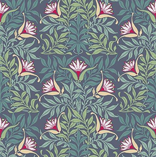 (Mitchell Black Flower Vine Wallpaper in)