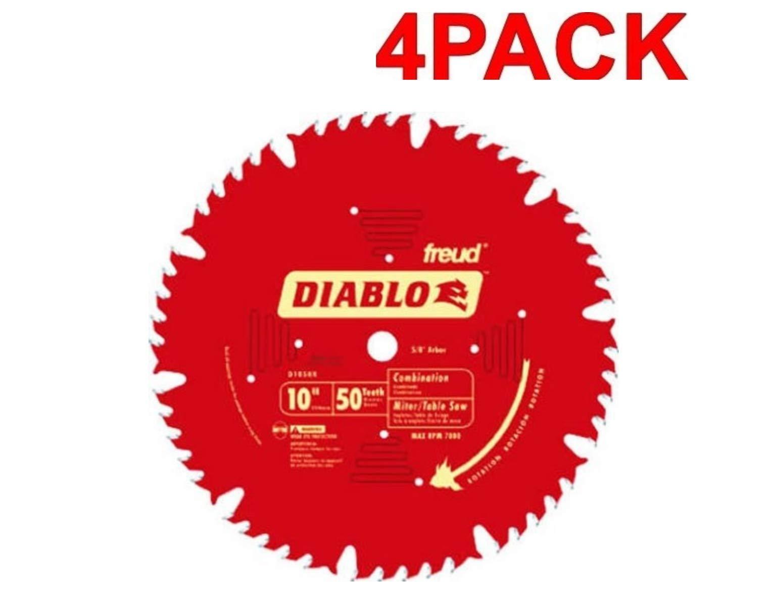 4 Hojas de Sierra DIABLO Combinación D1050X 10 x 50T ATB con