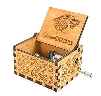 Meiion Antigua caja de música de madera tallada música de manivela: Juego de tronos: Amazon.es: Hogar