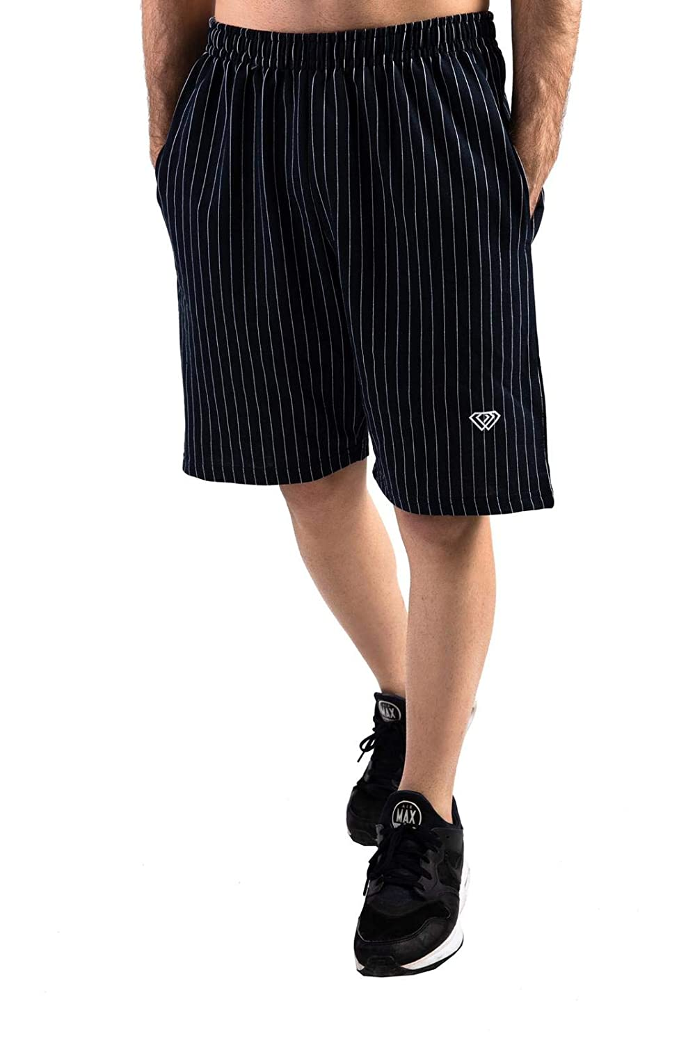 CSN Men/'s Casual Striped Shorts with Pockets 6 Sizes