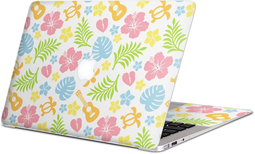 igsticker Skin Decals for MacBook Pro 15 Retina mid 2012-mid 2015(Model A1398) Ultra Thin Premium Protective Body Stickers Skins Universal Cover Hibiscus Hawaii Colorful