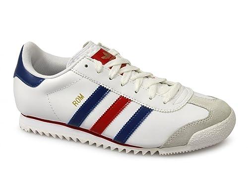best loved 5ea7b 42f5c adidas Originals ROM - Sneaker uomo, modello retrò, Bianco (bianco), 40.5
