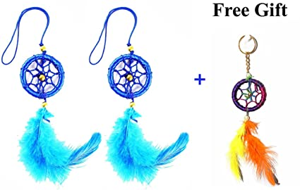 Hands of Odisha Car and Wall Hanging Dream Catcher, Attract Positive Dreams Pack of 2