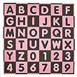 Tadpoles 36 Sq Ft ABC Floor Mat, Pink/Brown