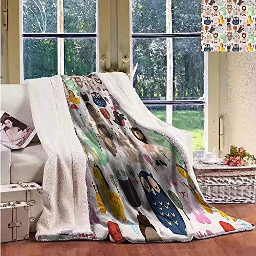 - Sunnyhome Flannel Double Blanket Kids Giraffe Crocodile Teddy Bear Personalized Baby Blanket W59x47L