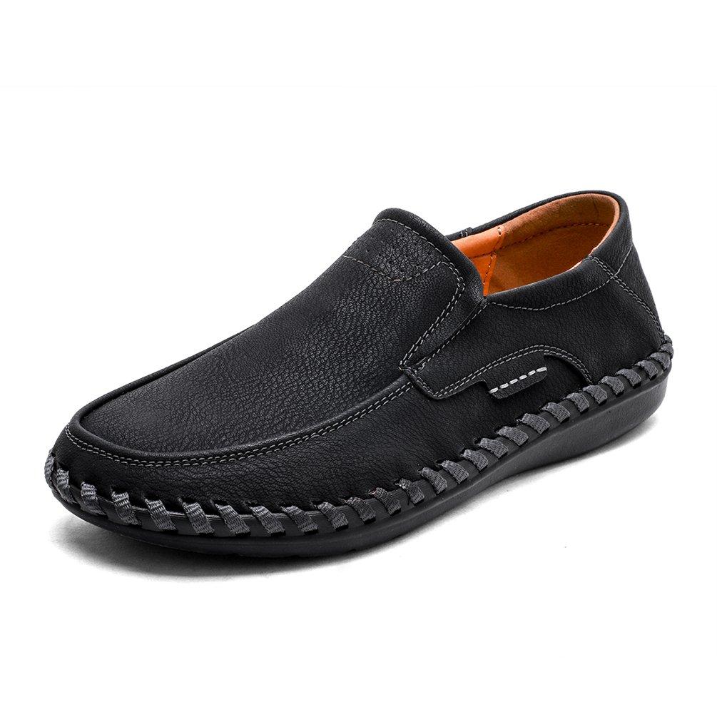 Men's Driving Slip-on Loafer Italy Classic Fashion Non-Slip & Comfortable-Black 39