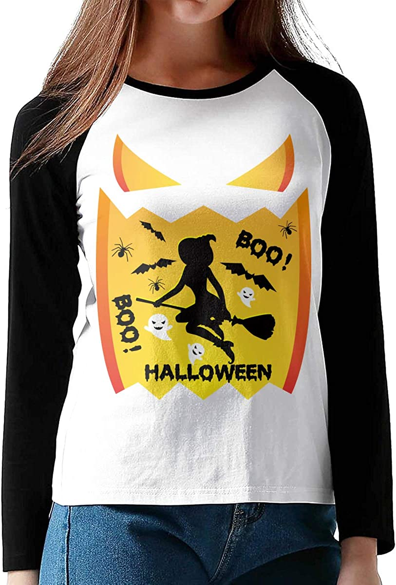 Teen Girls Printed Long Sleeves Black MiiyarHome Womens Long Sleeve T-Shirts Canada Flag Tee