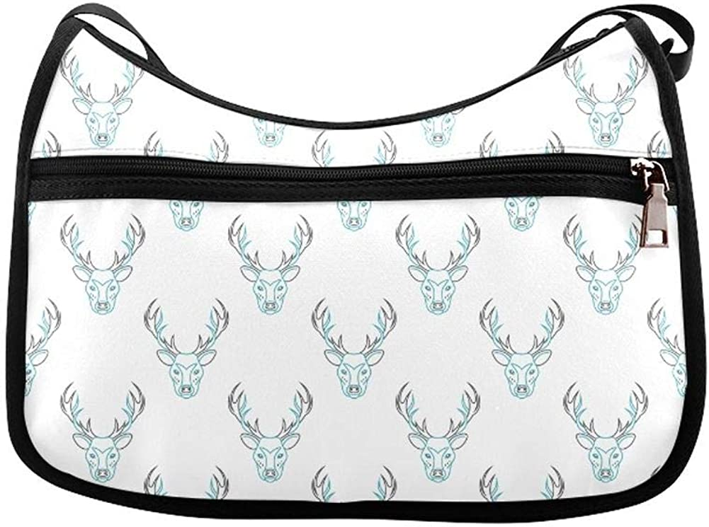 Beautiful Anime Hand Drawn Antlers Messenger Bag Crossbody Bag Large Durable Shoulder School Or Business Bag Oxford Fabric For Mens Womens