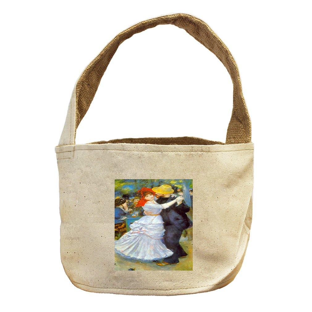 Style in Print Dance At Bougival (Renoir) Canvas and Burlap Storage Basket Basket