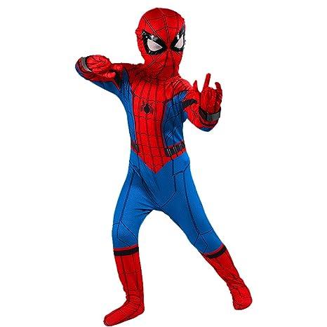 YIWANGO Niño Disfraz De Spiderman Lycra Bola De Disfraces ...