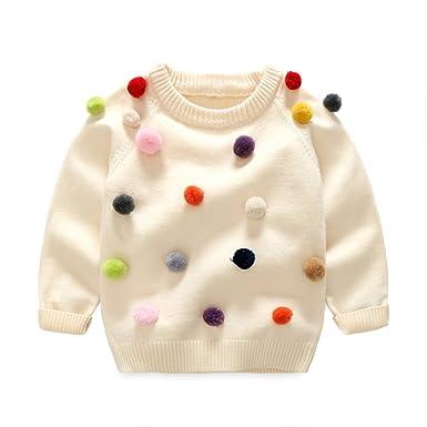 8a6052ec2 Amazon.com  MengDaDa Kids Knitwear Popcorn Sweaters Girls Knitted ...