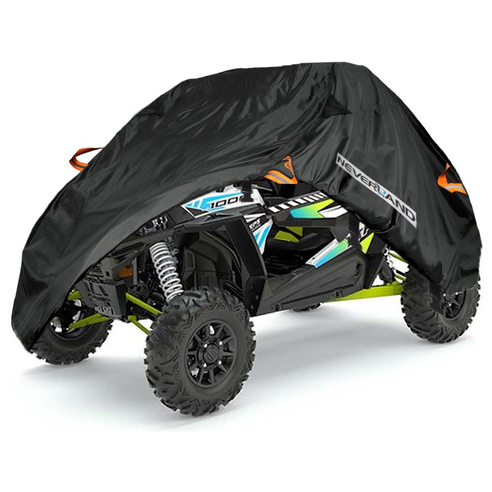 NEVERLAND UTV Cover,190T Waterproof Material for Polaris Ranger Yamaha WOLVERINE Honda Kawasaki Teryx Textron Off Road Wildcat 2-3 Passenger by NEVERLAND