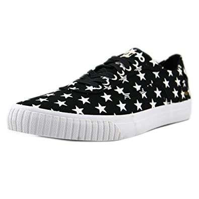 HUF Essex Mens Black Canvas Lace Up Sneakers Shoes 8