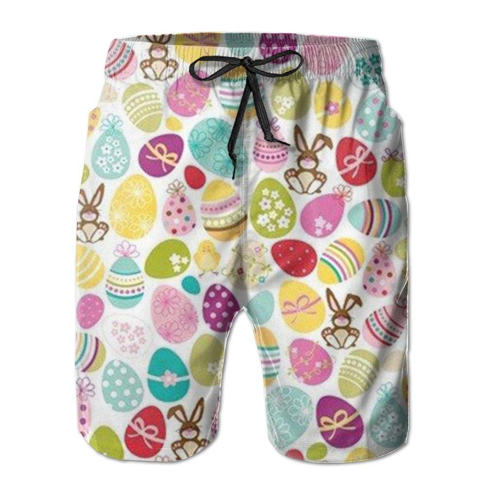 QYKKJF Mens Egg Summer Holiday Quick-Drying Swim Trunks Beach Shorts Board Shorts