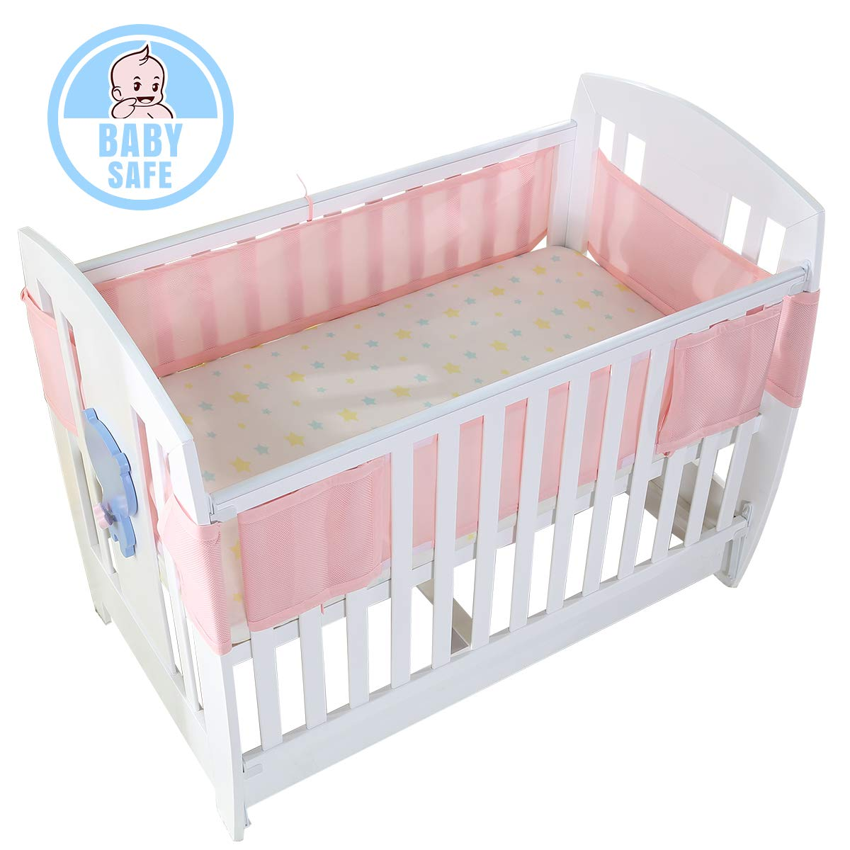 Baby Crib Bumper Breathable Mesh Infant Cot Bumper Children Bumper Crib Liner Baby Cot Sets Baby Bed Around Safety Protector ITRAZ