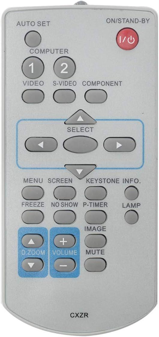 CXZR Replace Remote Control Compatible with Sanyo Projector PLC-WK2500 PLC-XC56 PLC-XD2200 PLC-XD2600 PLC-XK2200 PLC-XU301A PLC-XU301K PLC-XU350 PLC-XU350A PLC-XU350K PLC-XU4000 PLC-XW200 PLC-XW200K