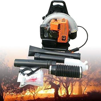 Motor de gasolina de 65 cc, soplador de hojas, 2,7 kW, soplador de hojas, soplador de valla trasera, soplador de jardín, 3,6 CV/2 tiempos: Amazon.es: Bricolaje y herramientas