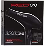 RED PRO Kiss Robin Titanium 3500 Blow Dryer 110 V