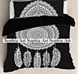 Sophia Art Indian Tree Of Life Cotton Queen Duvet Cover Quilt Cover Bohemian Hippie Bedspread Quilt Handmade Duvet Cover With Pilow Cover (Purple) with free magazine holder Letter Holder Wall Hanging