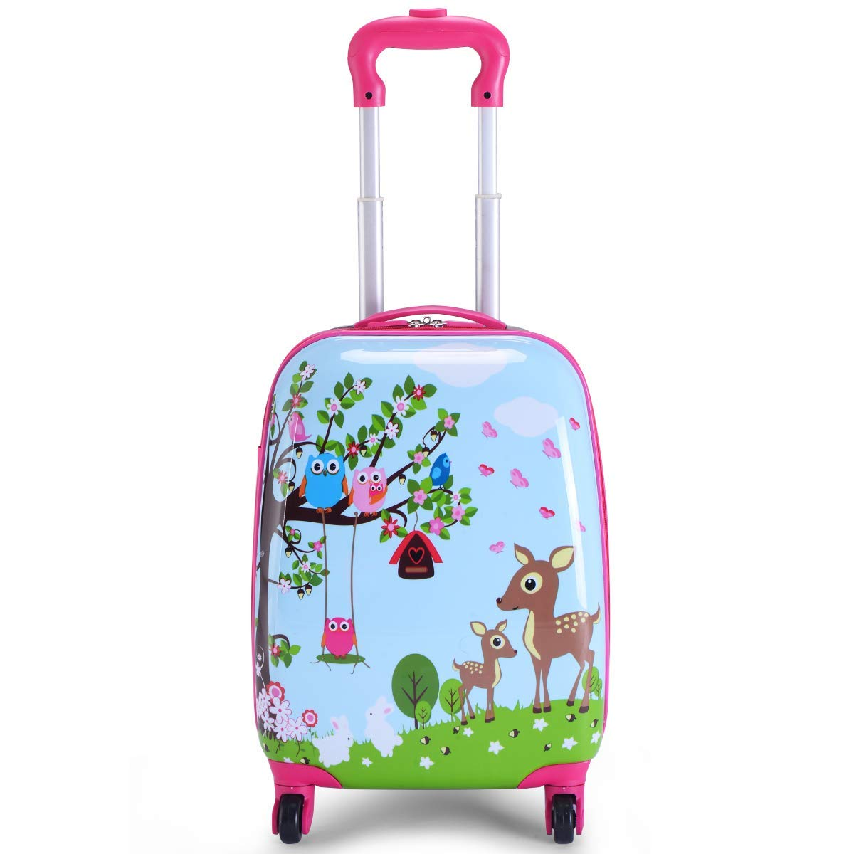 MOREFUN 2 Pcs Kids Travel Luggage Set 18'' Carry on Luggage and 13'' Backpack (Deer) by Morefun Trading (Image #4)