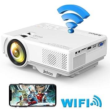 f2d61c17cb Jinhoo データプロジェクター 2600LM【WiFi接続可】スマホと直接に繋がる HDMI交換