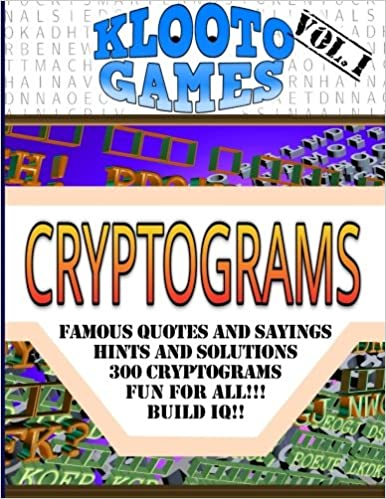 Klooto Games Cryptograms Volume I Volume 1 Cyrus F Rea