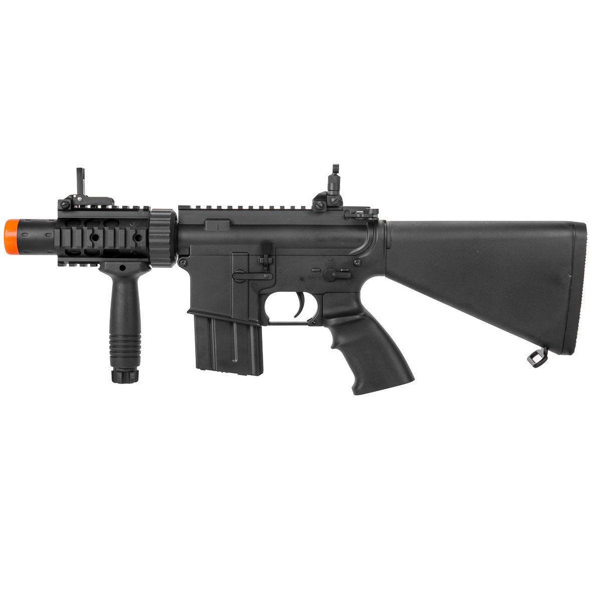 MetalTac Electric Airsoft Gun M4 CQB 02 A&K with Full Metal Body, Metal Gearbox Version 2, Full Auto AEG, Upgraded Powerful Spring 380 Fps with .20g BBs