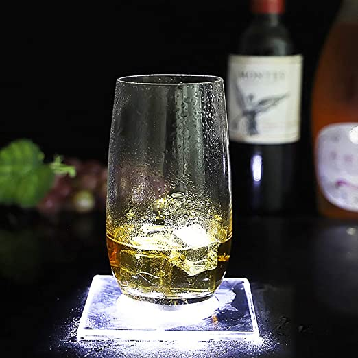 SQUAREDO Luz de botella LED Led Light Up Drink Coaster Copa de ...