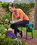 MattsGlobal Modern Heavy-duty Garden 2-in-1 Combination Cushioned Kneeler Seat with Pouch