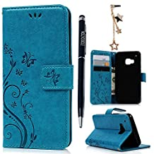 HTC One M9 Case,HTC M9 Case- MOLLYCOOCLE® [Natural Luxury Blue]Stand Wallet Purse Credit Card ID Holders Magnetic Flip Folio TPU Soft Bumper PU Leather Ultra Slim Fit Skin Cover for HTC One M9